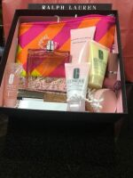 LARGE RALPH LAUREN AND CLINIQUE DILLARDS GIFT BAG FILLED WITH EXCITING GIFTS FOR HER