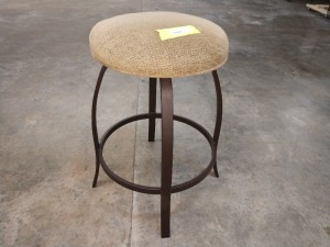 VERY NICE 26-IN HIGH SWIVEL BAR STOOL WITH PADDED SEAT