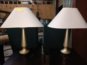 SET OF TWO 27-IN TALL LAMPS
