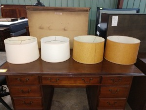 SET OF FOUR ROUND LAMP SHADES