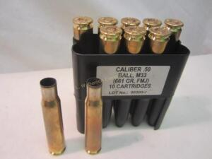 Brass Casings 10 Rounds 50 Bmg Fired Brass