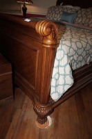 BEAUTIFUL HEAVILY CARVED KING SIZE BED WITH CLAW FEET - 2