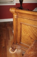 BEAUTIFUL HEAVILY CARVED KING SIZE BED WITH CLAW FEET - 3