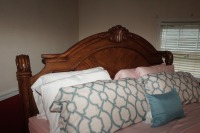 BEAUTIFUL HEAVILY CARVED KING SIZE BED WITH CLAW FEET - 4