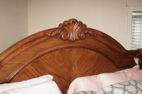 BEAUTIFUL HEAVILY CARVED KING SIZE BED WITH CLAW FEET - 5