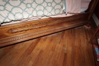 BEAUTIFUL HEAVILY CARVED KING SIZE BED WITH CLAW FEET - 8