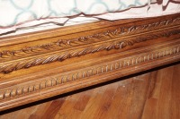 BEAUTIFUL HEAVILY CARVED KING SIZE BED WITH CLAW FEET - 9
