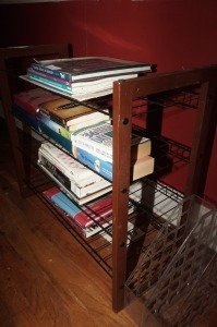 FOUR TIER WIREFRAME OPEN BOOKSHELF AND DESKTOP FILE HOLDERS - MBR