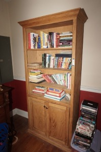 WOOD BOOKCASE WITH LOW CABINET - MBR