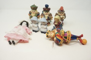 BISQUE PORCELAIN DOLL, PORCELAIN FIGURINES, AND TREE ORNAMENT - BR2