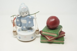 PORCELAIN AND BISQUE PORCELAIN MUSICAL FIGURINES INCLUDING ORIENTAL AND SCHOOL DAYS - BR2