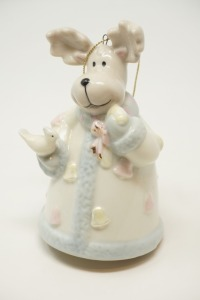 BAUM BROTHERS PORCELAIN HOLIDAY BELL - BR2