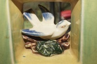 MCCOY BIRD MOTIF GLAZED POTTERY PLANTER, HAND-PAINTED TILE TRIVET, BETTY TAPLIN MINI-BEATER, AND MORE - 9