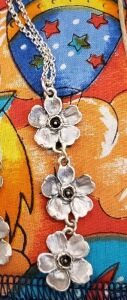 BEAUTIFUL custom KJK New York CHERRY BLOSSOM NECKLACE IN SILVER - DONATED BY TIM OWENS