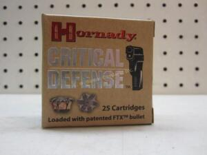 Hornady Critical Defense 380 Auto