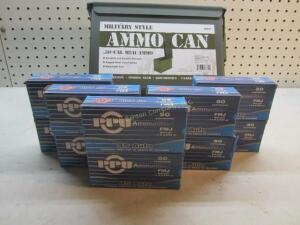10 Boxes PPU 45 Auto in Steel Ammo Can