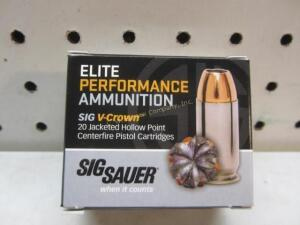 Sig Sauer Elite Performance V-Crown 9 MM