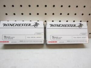 2 Boxes Winchester 9 Mm