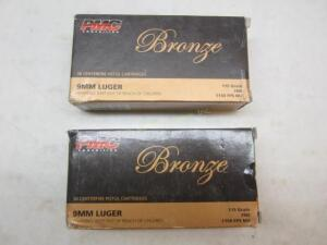 2 Boxes PMC Bronze 9 MM