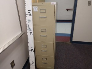 R2 RIGHT... FOUR DRAWER FILING CABINET