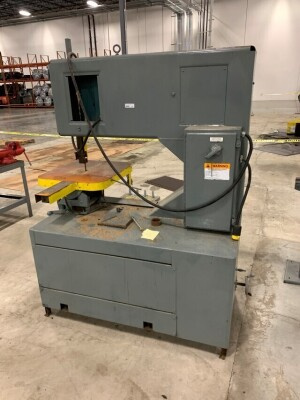 GROB INC. BAND SAW, SERIAL NUMBER 1186, SAW TYPE 4V36, YEAR 1974, 480 VOLT, COMPANY ENGINEER STATES WORKING WHEN PLANT CLOSED