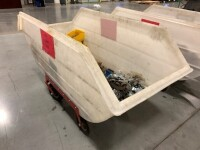 LARGE POLY ROLLING BIN WITH ALL CONTENT INCLUDED