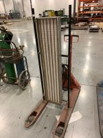 WAREHOUSE HEATER MOUNTED ON PALLET JACK, 480 VOLT, THREE PHASE