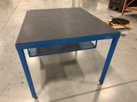 48-IN X 60-IN METAL FRAME ROLLING TABLE WITH WOODEN TOP - 3