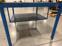 48-IN X 60-IN METAL FRAME ROLLING TABLE WITH WOODEN TOP - 4