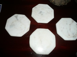 LOT OF 4 marble COASTERS