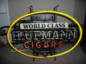 NEON CIGAR ADVERTISEMENT LIGHT NEEDS SOME REPAIR PARTS LIGHT UP