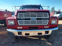 1987 FORD F-800, EMA VEHICLE, FIRE TRUCK, V I N NUMBER 1 F D Y T 8 4 A 7 H V A 2 4 8 2 1, MILES SHOWING 27419, SELLER STATES RUNS AND DRIVES, WAS DRIVEN TO THIS SITE FOR AUCTION - 18