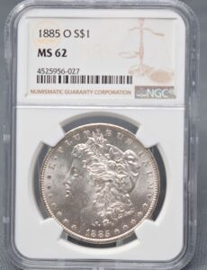 1885 0 MORGAN DOLLAR IN SLAB