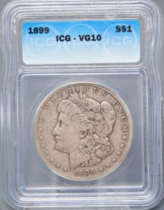 1899 MORGAN DOLLAR IN SLAB