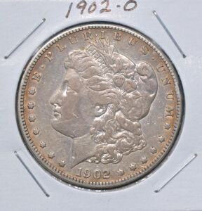 1902 O MORGAN DOLLAR IN SLAB