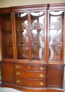 VINTAGE BASSETT FURNITURE CHINA CABINET