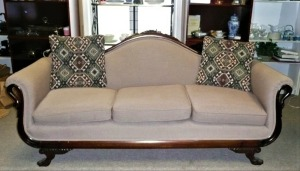 ANTIQUE  GOOSENECK SOFA