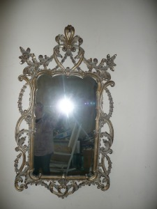 ANTIQUE ORNATE GOLD FRAME MIRROR