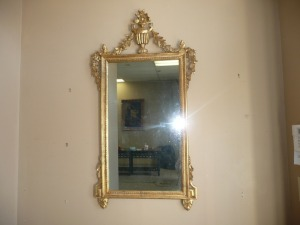 ANTIQUE GOLD FRAMED MIRROR