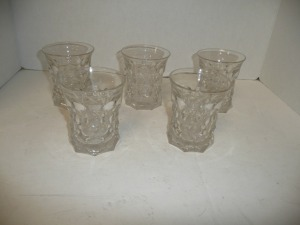 LOT OF FIVE VINTAGE DRINK GLASSES