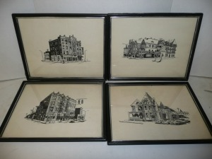 LOT OF FOUR BLACK AND WHITE PRINTS