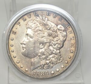 1886 MORGAN DOLLAR MARKED AU