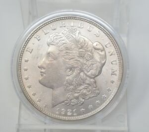 1921 MORGAN DOLLAR MARKED EF
