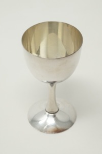 PURE SILVER OCCUPIED JAPAN CPO SAKE CUP / CORDIAL STEM, APPROXIMATE WEIGHT 36.2 G - LR