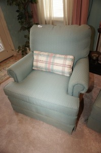 SWIVELING & ROCKING CLUB CHAIR WITH CUSTOM UPHOLSTERY - LR