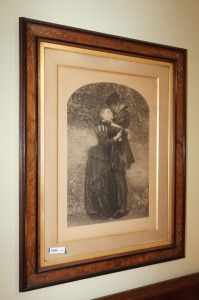 LARGE FRAMED ANTIQUE DRAWING - BR1