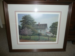 SIGNED CHERRY BLOSSOM 10TH ANNIVERSARY COMMEMORATIVE PRINT BY BUTLER BROWN