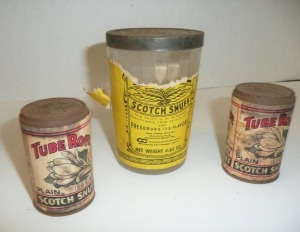3 VINTAGE SNUFF CONTAINERS