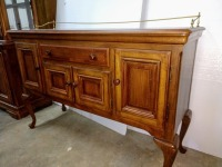 VERY NICE ALEXANDRIA JULIAN FORMAL SIDEBOARD, DOES HAVE LOTS OF UNDERNEATH STORAGE, DOES HAVE SIMILAR FOOTED LEGS AS THE FORMAL DINING TABLE BUT IS NOT AN EXACT MATCH - 2