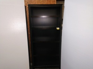 VERY NICE BOOKCASE, 34-IN X 11-IN X 75-IN TALL, DOES MATCH A LOT 10-14
